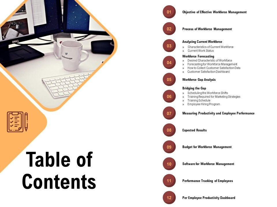 Table Of Contents Gap Analysis M1087 Ppt Powerpoint Presentation Infographic Template Styles