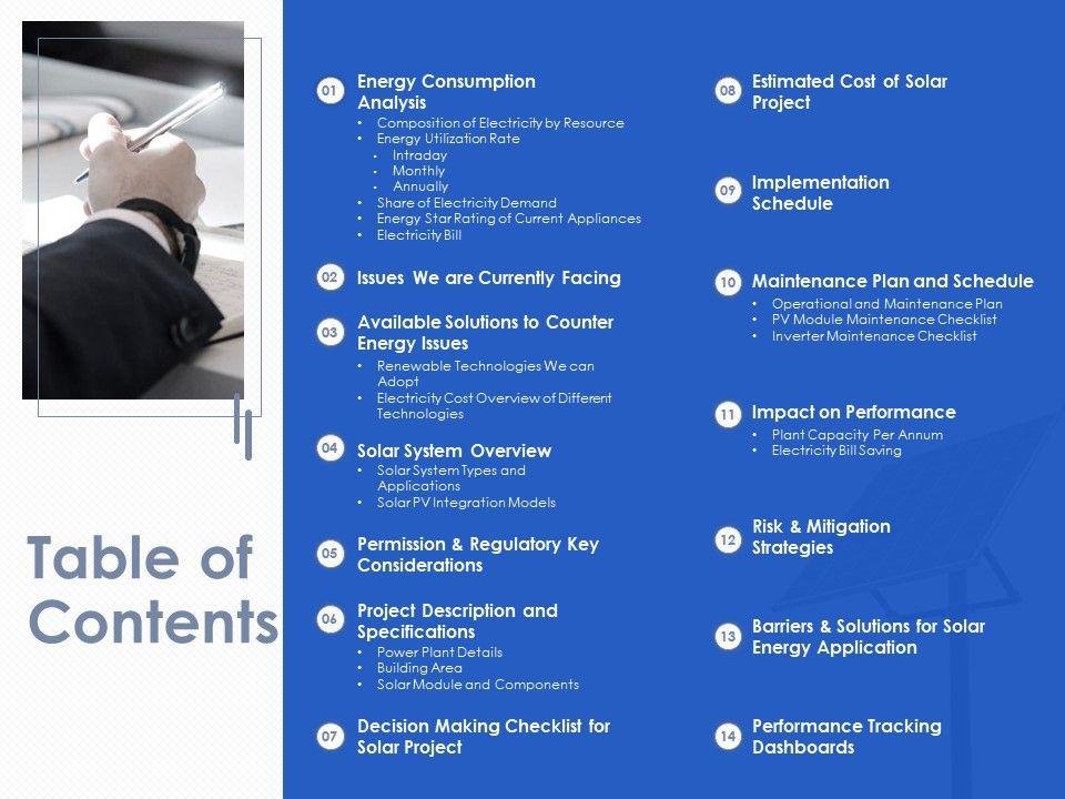 Table Of Contents L1910 Ppt Powerpoint Presentation Portfolio Deck