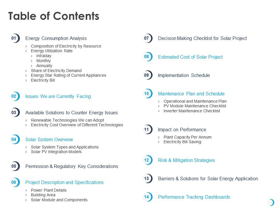 Table Of Contents Technologies M713 Ppt Powerpoint Presentation Styles Design Ideas