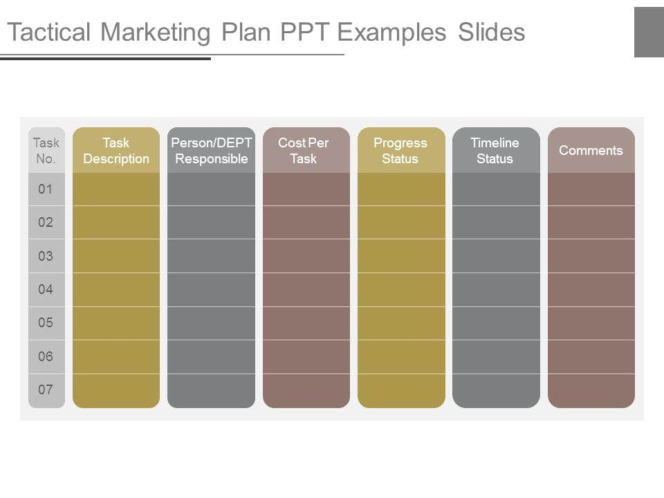 tactical marketing plan ppt examples slides