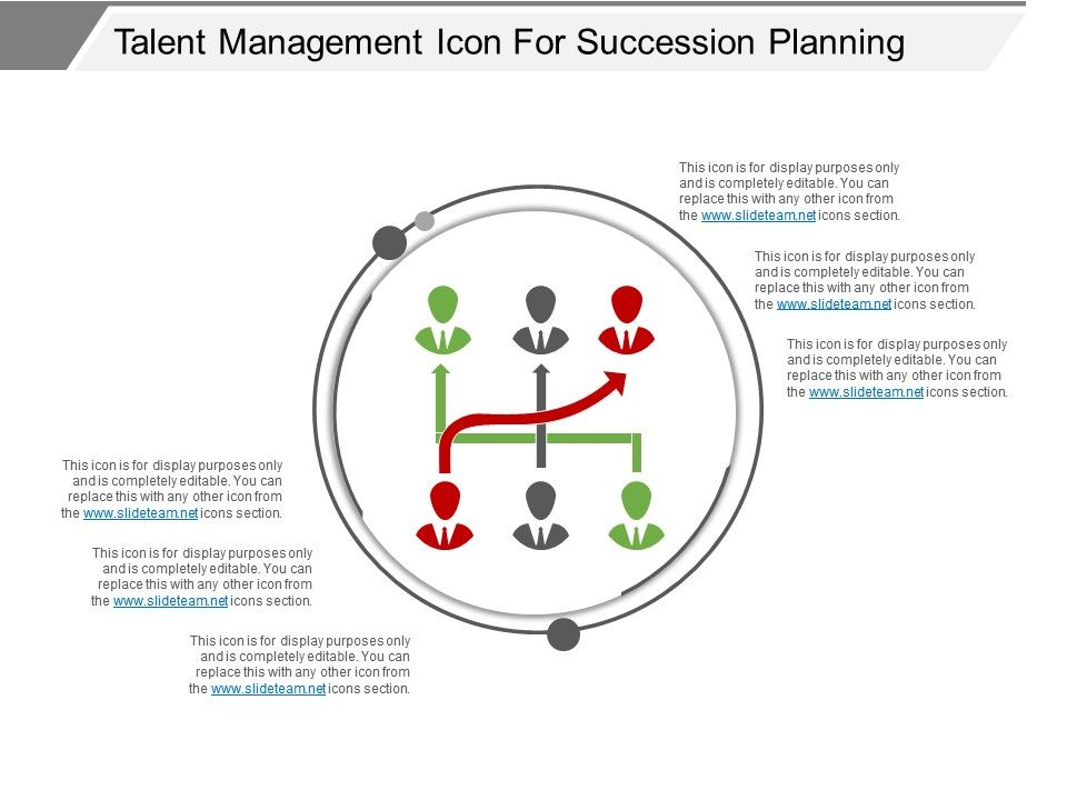 Talent Management Icon For Succession Planning Ppt Examples