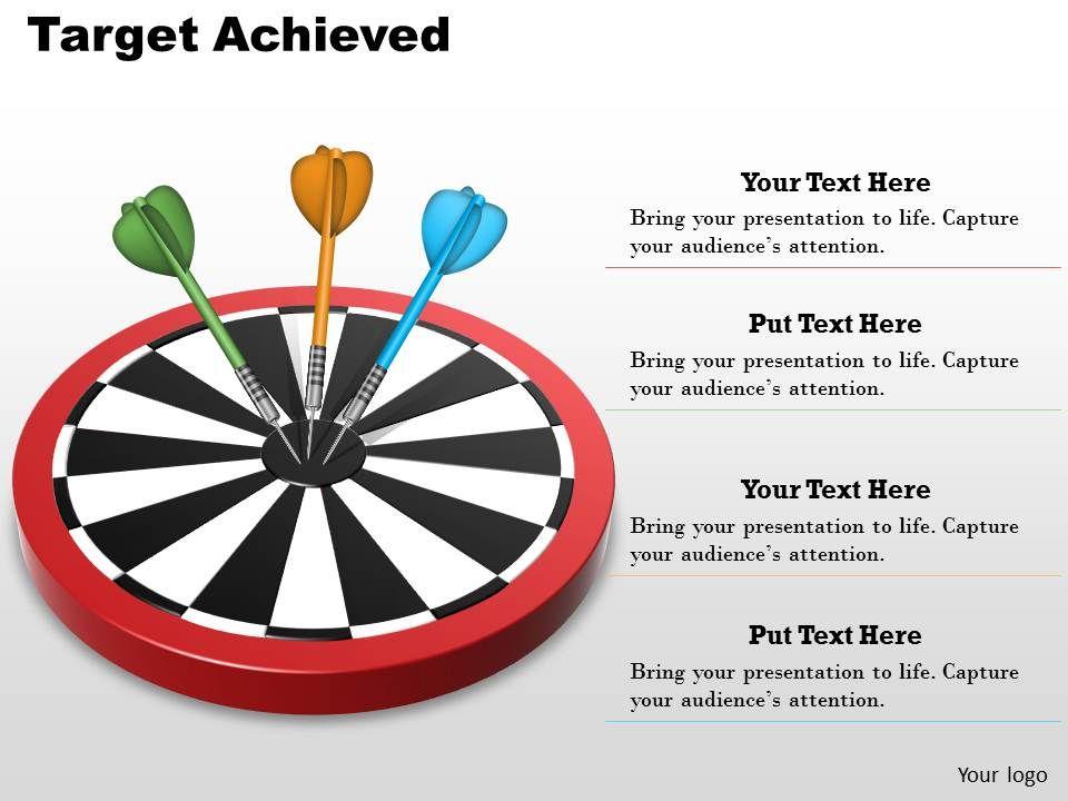 target achieved powerpoint template slide presentation powerpoint