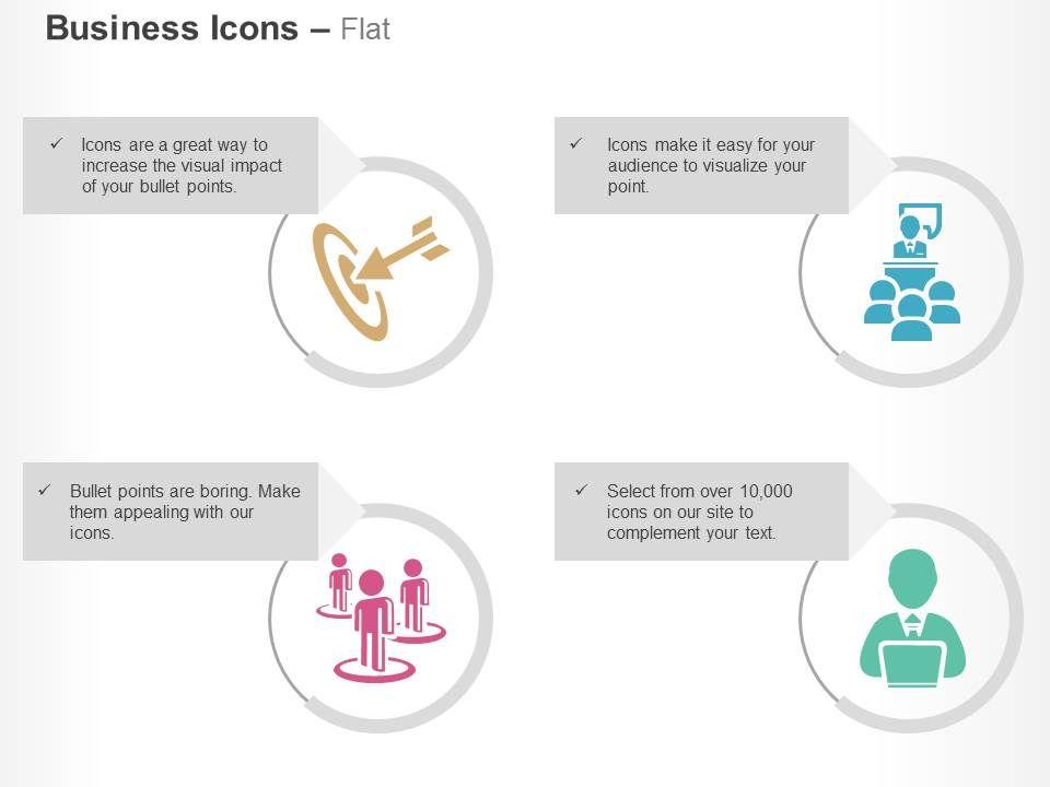target achievement business meeting social network help desk ppt, Presentation templates