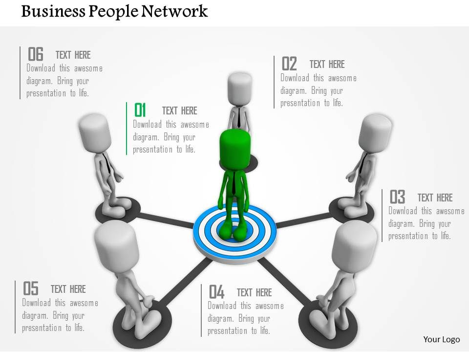 target_achievement_network_for_business_ppt_graphics_icons_Slide01
