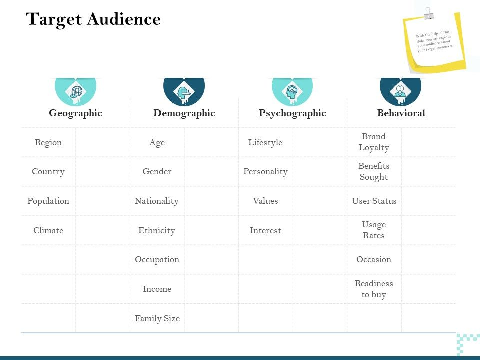 Target Audience Demographic Ppt Powerpoint Presentation Visual Aids