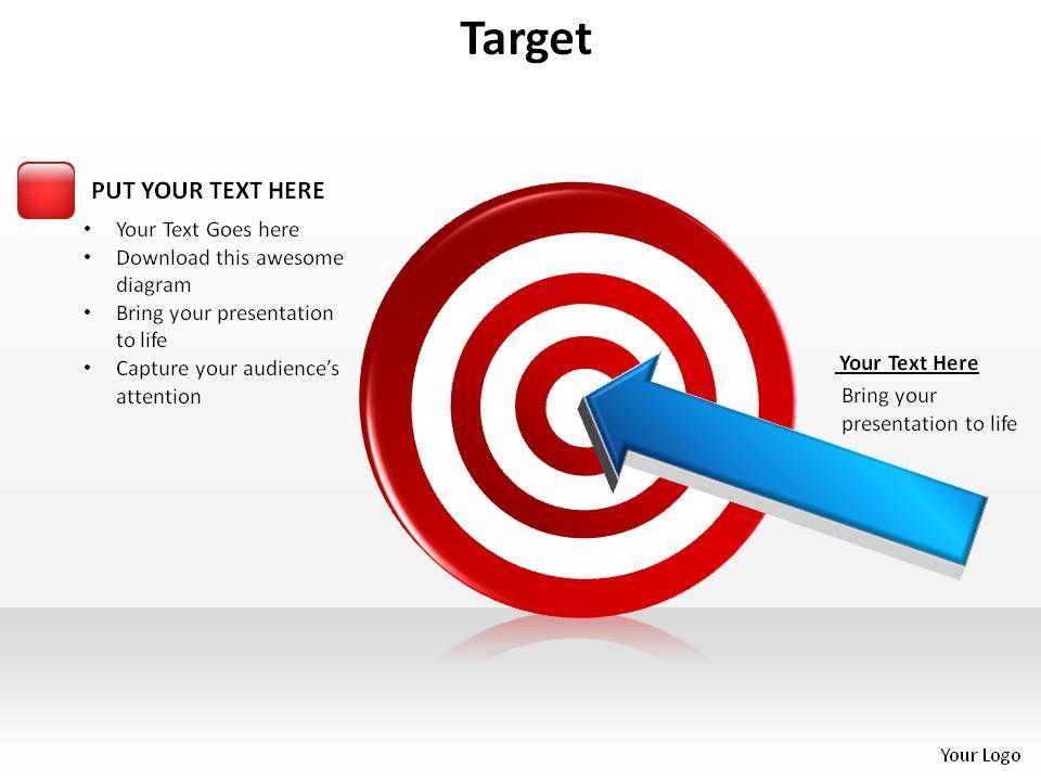 Bullseye target diagram diy enthusiasts wiring diagrams target bullseye with arrow dart in center slides presentation rh slideteam net bullseye diagram template bullseye diagram template maxwellsz