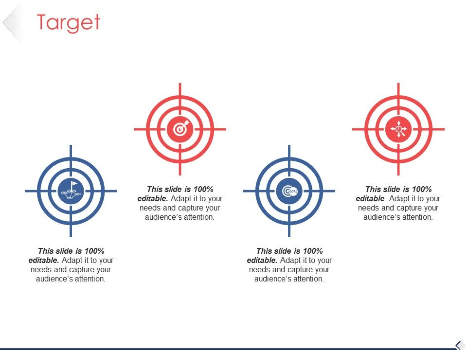 target presentation powerpoint template 1 powerpoint slide clipart