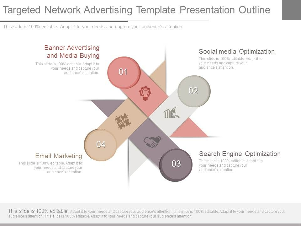 targeted network advertising template presentation outline, Presentation templates