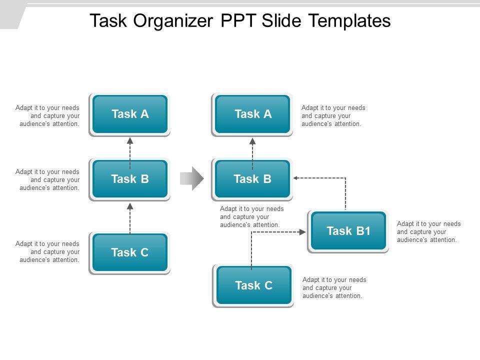 task organizer ppt slide templates powerpoint slide. Black Bedroom Furniture Sets. Home Design Ideas