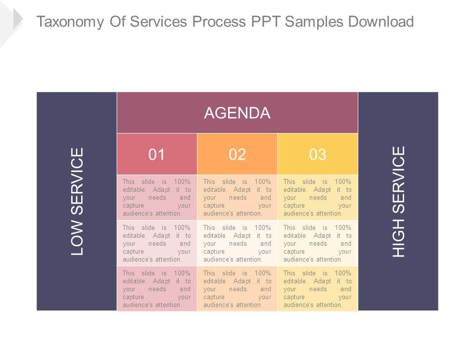 Taxonomy Of Services Process Ppt Samples Download   Template