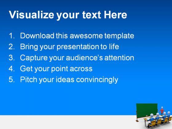 teacher in classroom education powerpoint template, Powerpoint