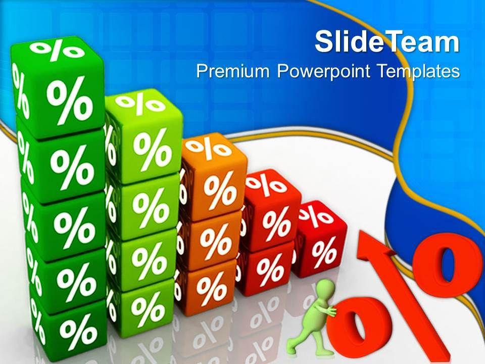 teacher powerpoint templates percent cube money education ppt, Modern powerpoint