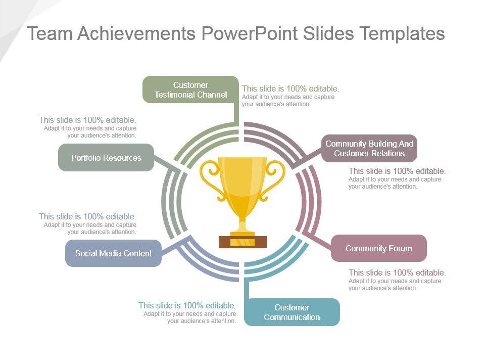 team achievements powerpoint slides templates