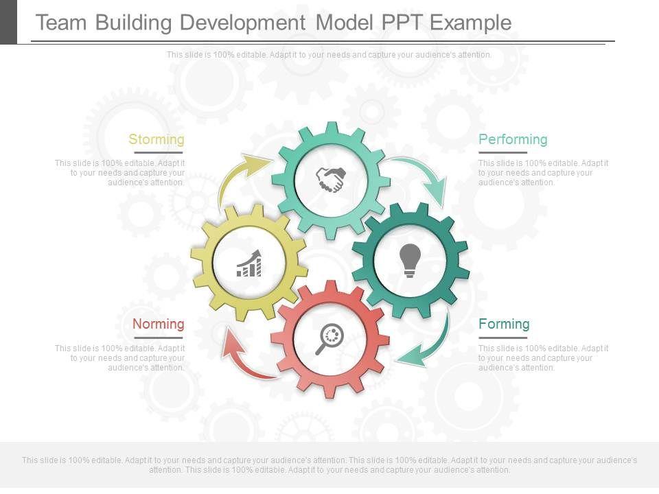team building development model ppt example