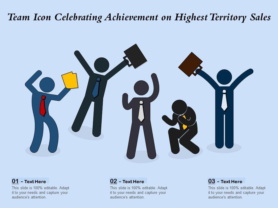 Team Icon Celebrating Achievement On Highest Territory Sales