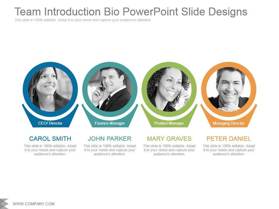 team introduction bio powerpoint slide designs powerpoint slide