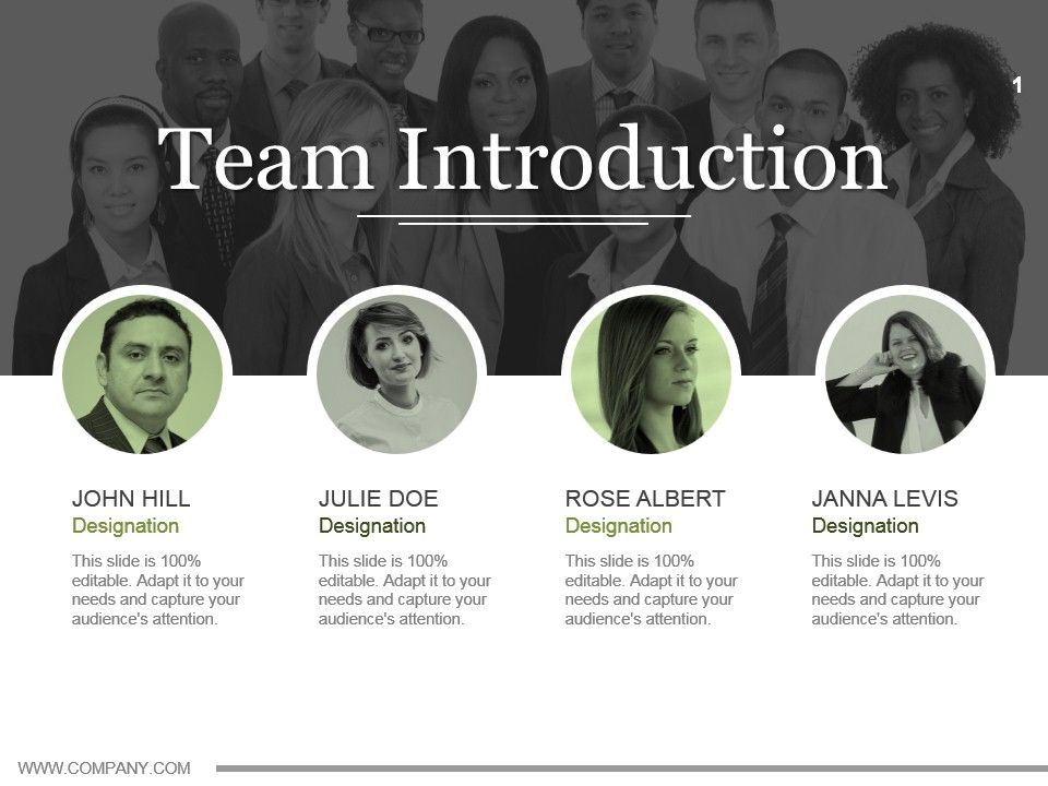 Team Introduction Powerpoint Topics Ppt Example File | PowerPoint ...
