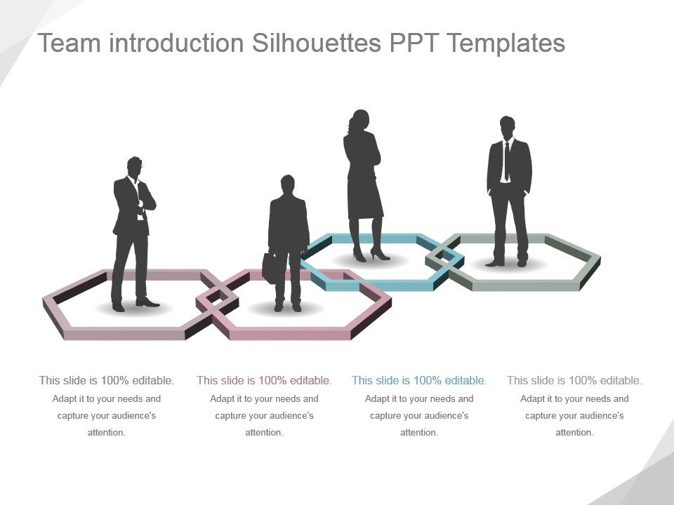 Team Introduction Silhouettes Ppt Templates