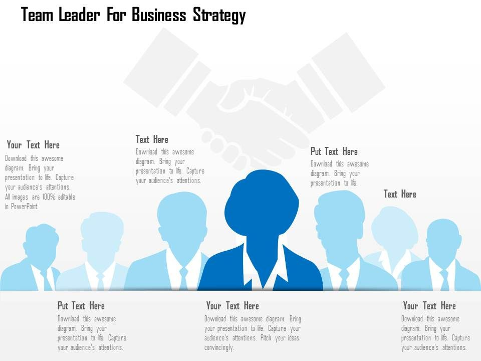 team_leader_for_business_strategy_flat_powerpoint_design_Slide01