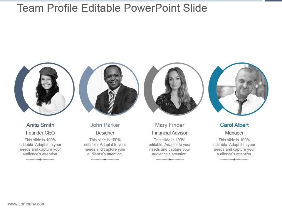 Team Profile Editable Powerpoint Slide | PowerPoint Templates ...