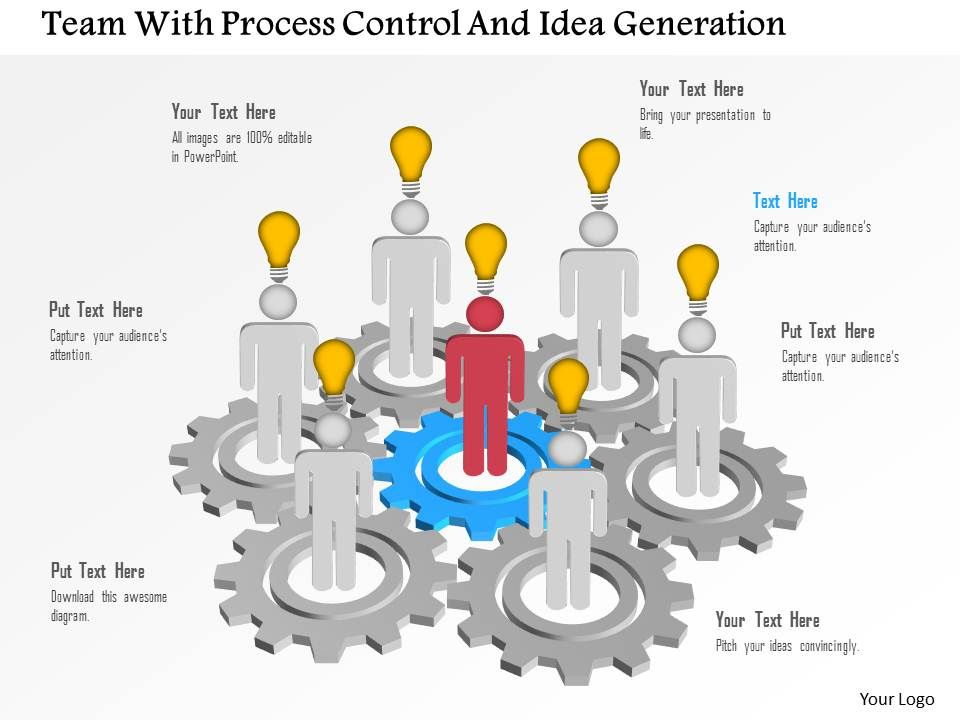 team_with_process_control_and_idea_generation_powerpoint_template_Slide01