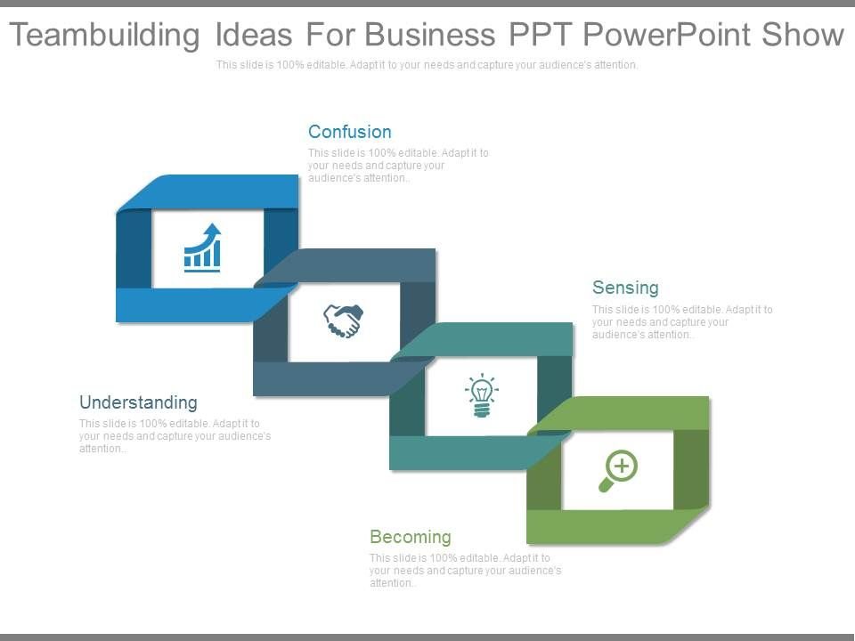 teambuilding ideas for business ppt powerpoint show powerpoint