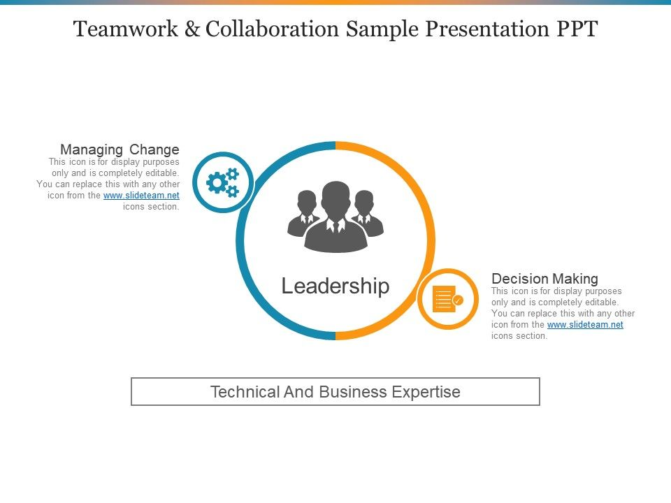 teamwork and collaboration sample presentation ppt powerpoint