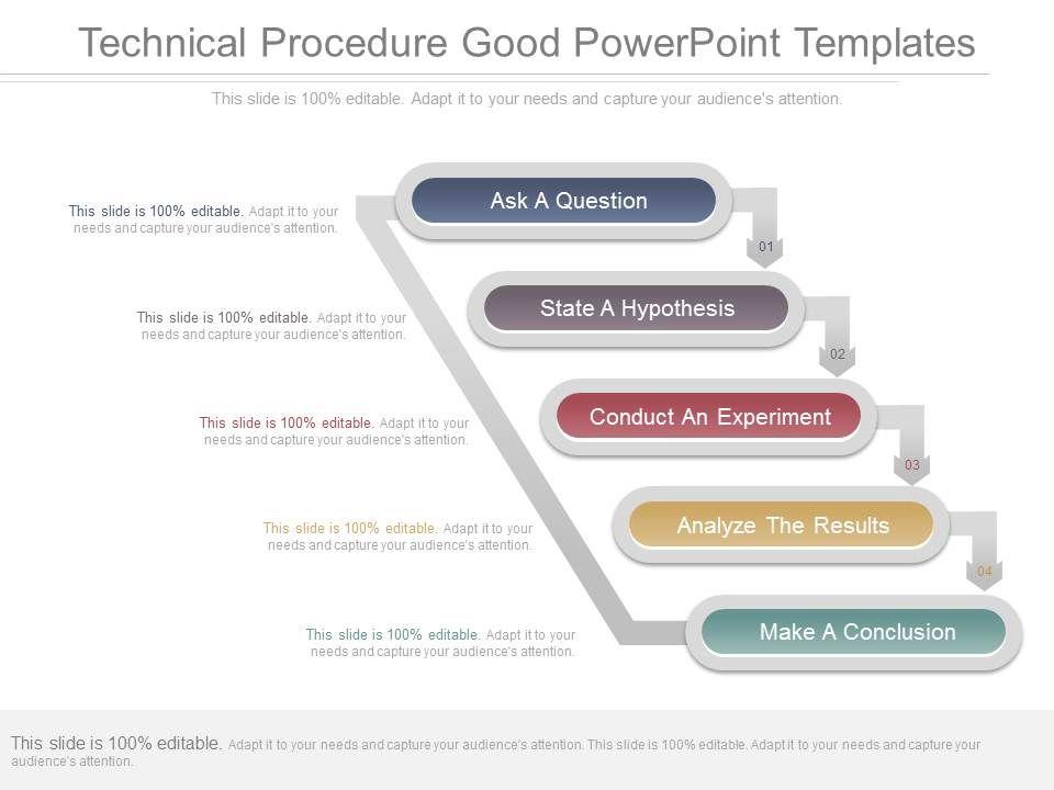 technical procedure good powerpoint templates powerpoint. Black Bedroom Furniture Sets. Home Design Ideas