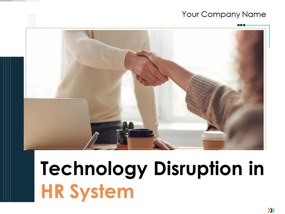 Technology Disruption In HR System Powerpoint Presentation Slides