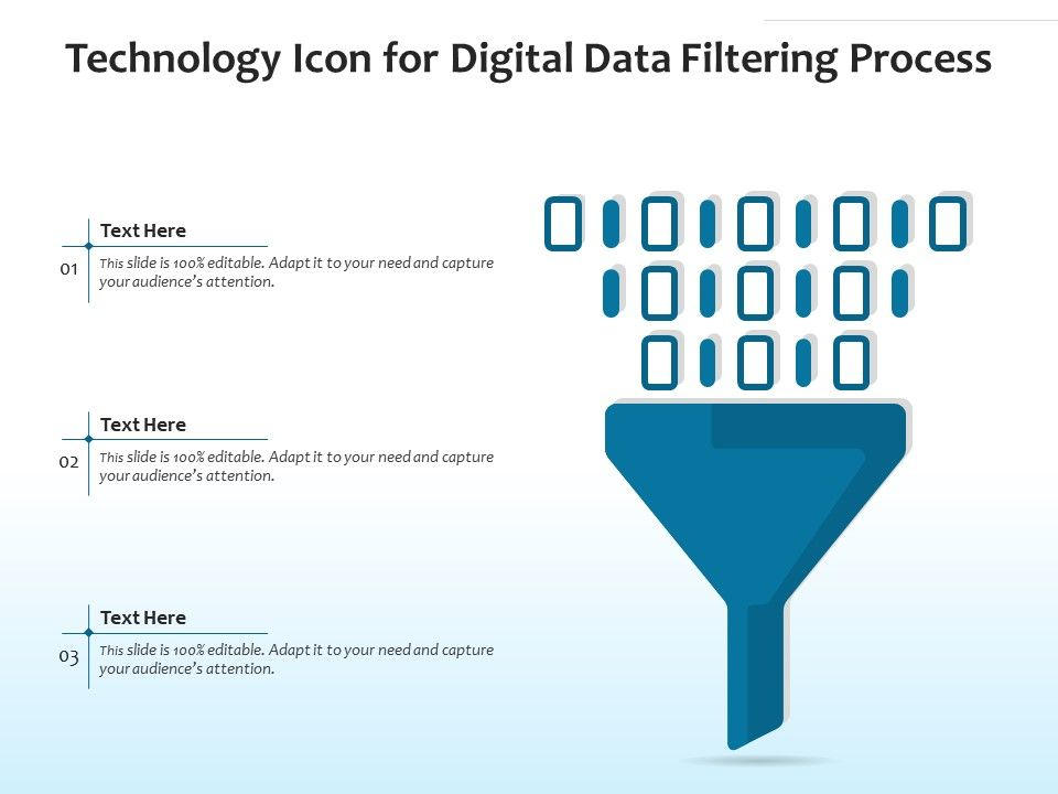 Technology Icon For Digital Data Filtering Process