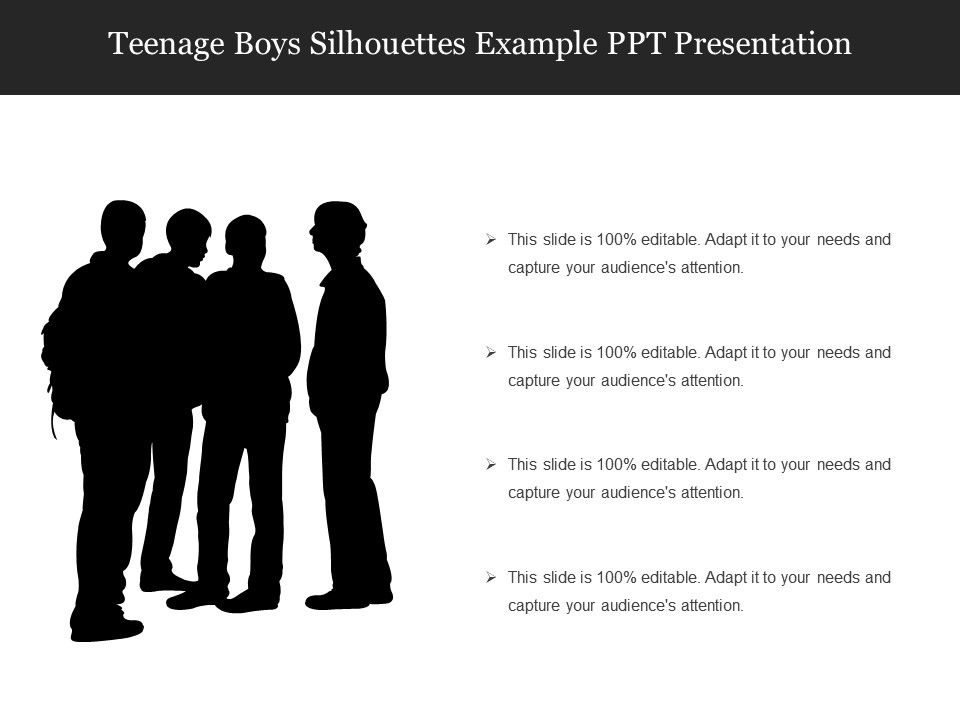 9715549 Style Variety 1 Silhouettes 4 Piece Powerpoint Presentation Diagram Infographic Slide