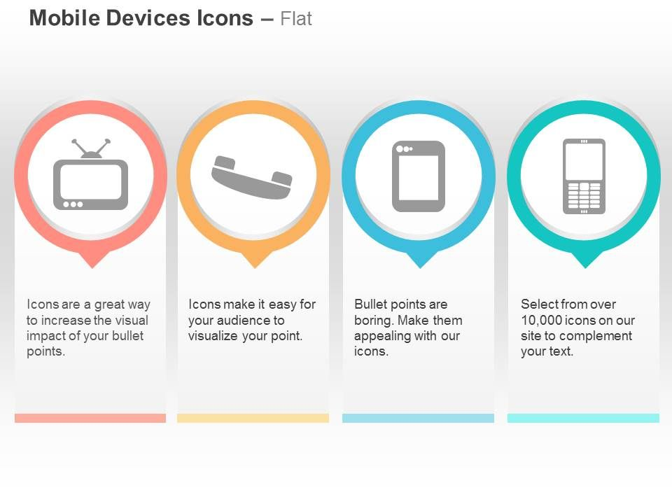 television phone tablet mobile ppt icons graphics | powerpoint, Modern powerpoint
