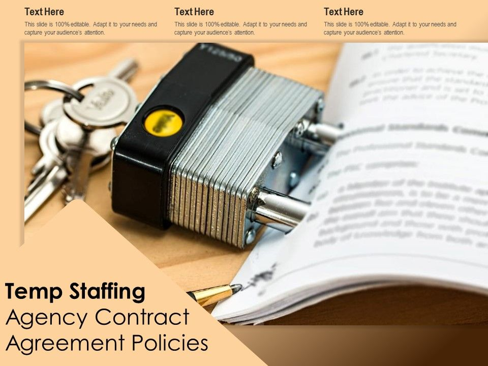 Temp Staffing Agency Contract Agreement Policies