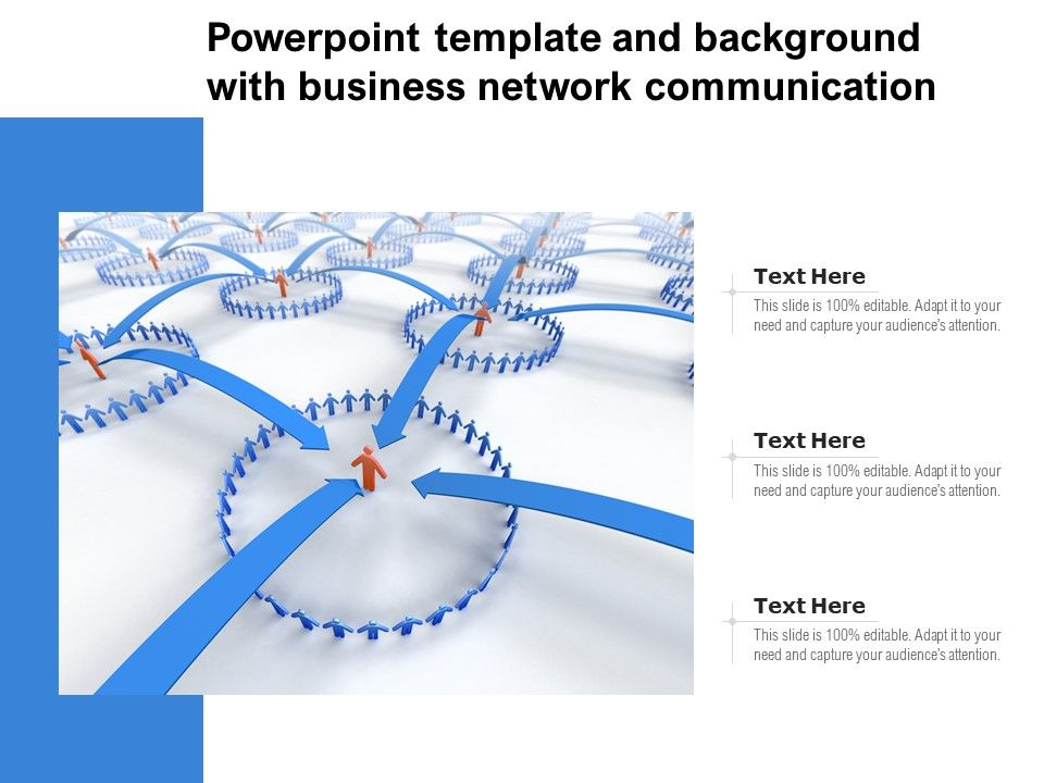 Template And Background With Business Network Communication Ppt Powerpoint
