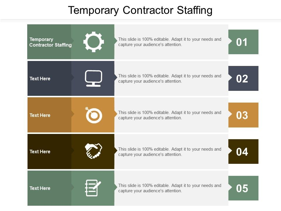 Temporary Contractor Staffing Ppt Powerpoint Presentation