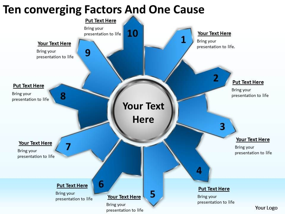 ten_converging_factors_and_one_cause_cycle_process_diagram_powerpoint_templates_Slide01