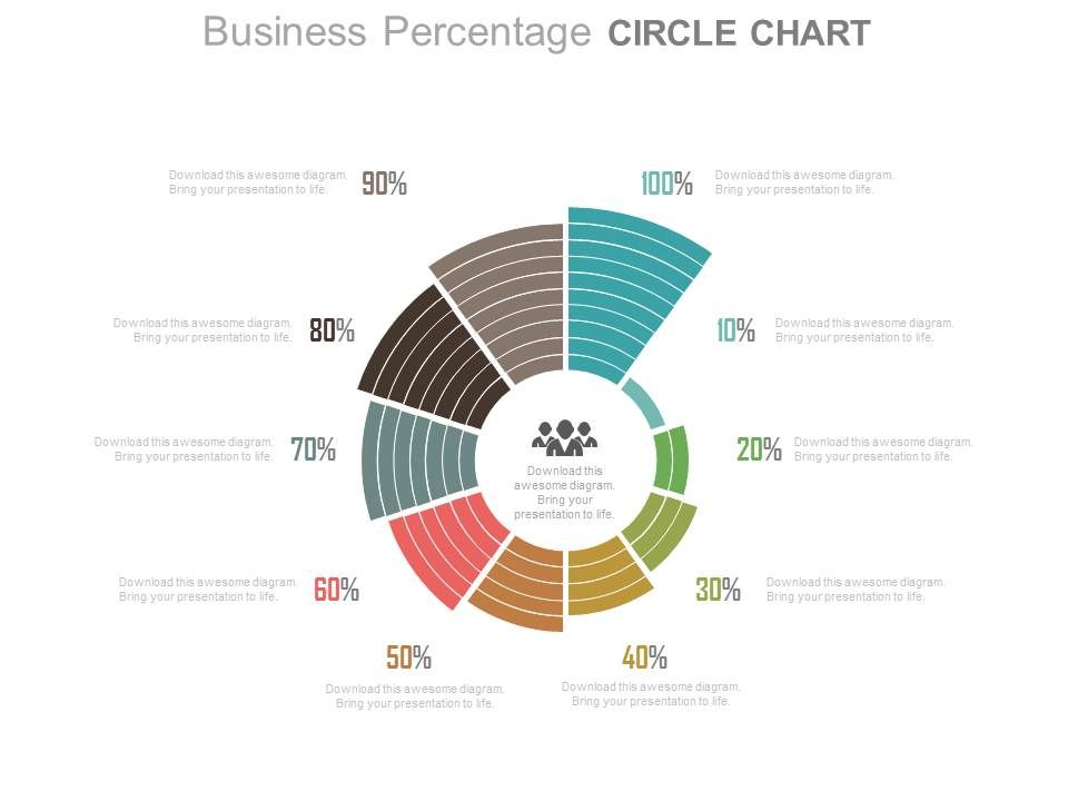 ten_staged_business_percentage_circle_chart_powerpoint_slides_Slide01