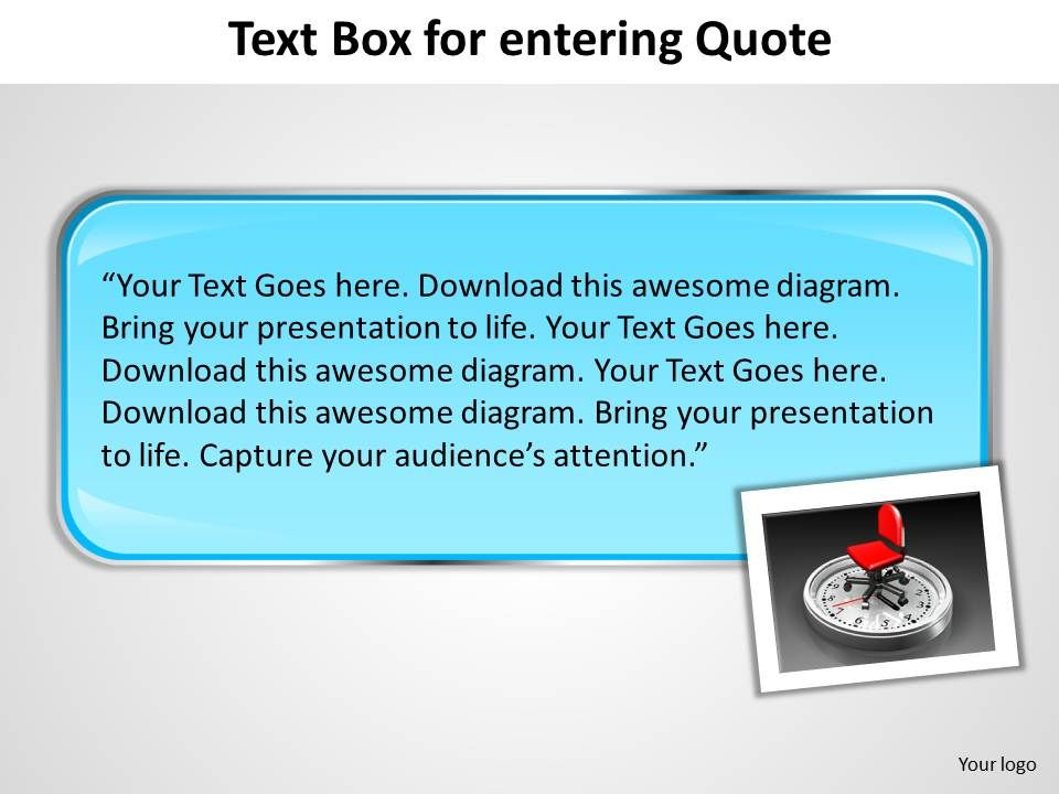 text box for entering quote powerpoint slides presentation, Templates