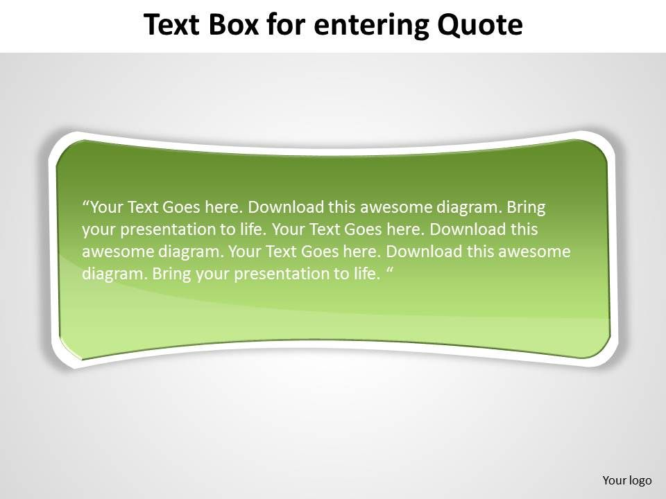 text box simple elegant with curved edges green for entering quote