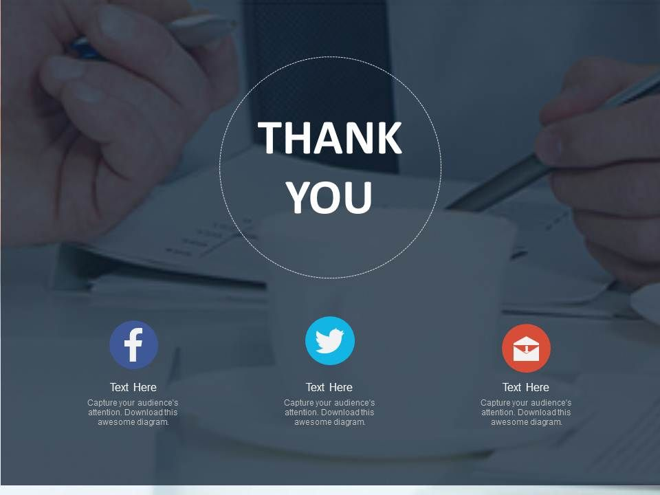 thank you card for social media connection powerpoint slides, Modern powerpoint