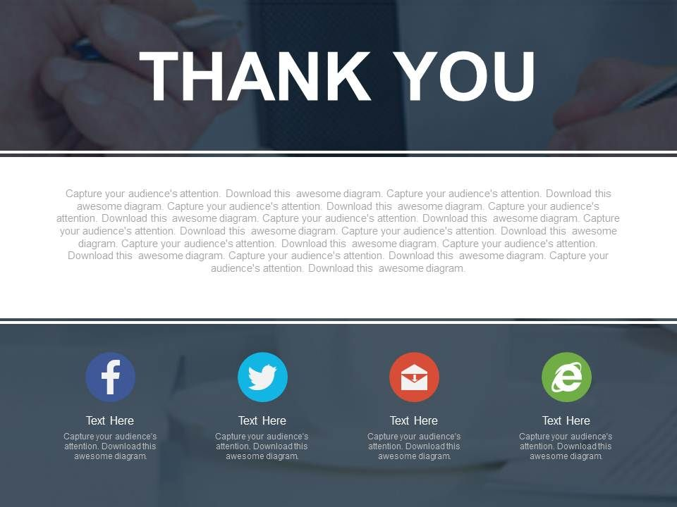 Thank You For Social Media Marketing Strategy Powerpoint Slides