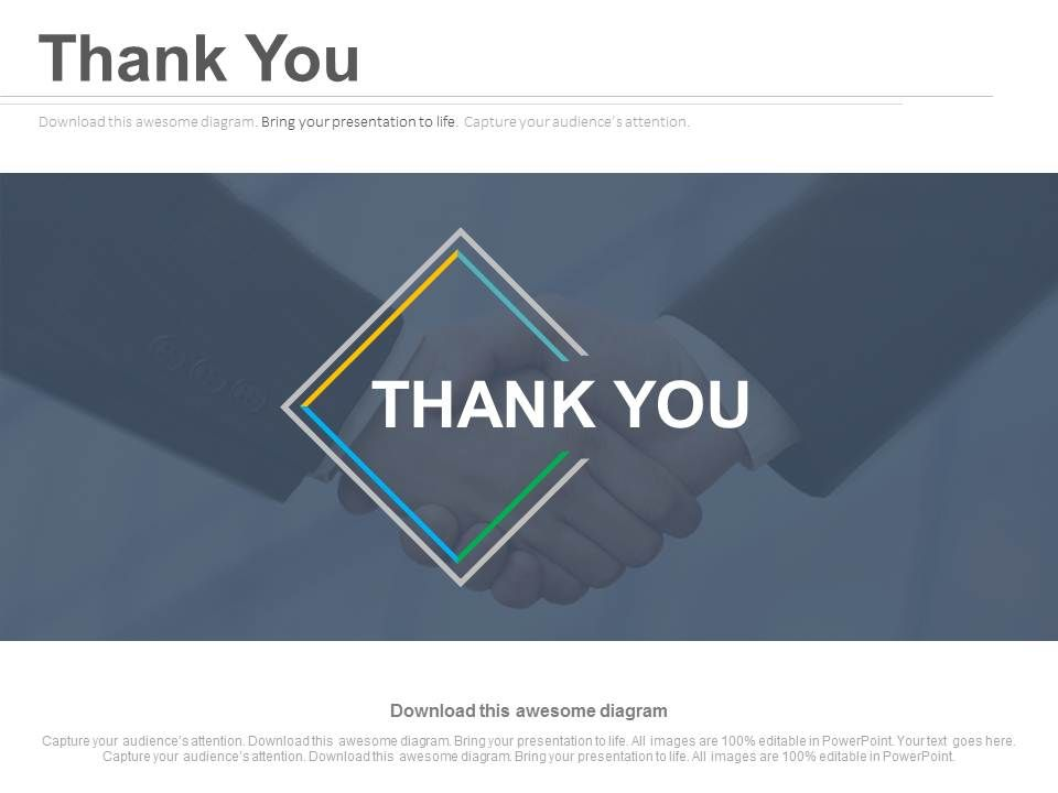 thank you slide for business deal powerpoint slides ppt images