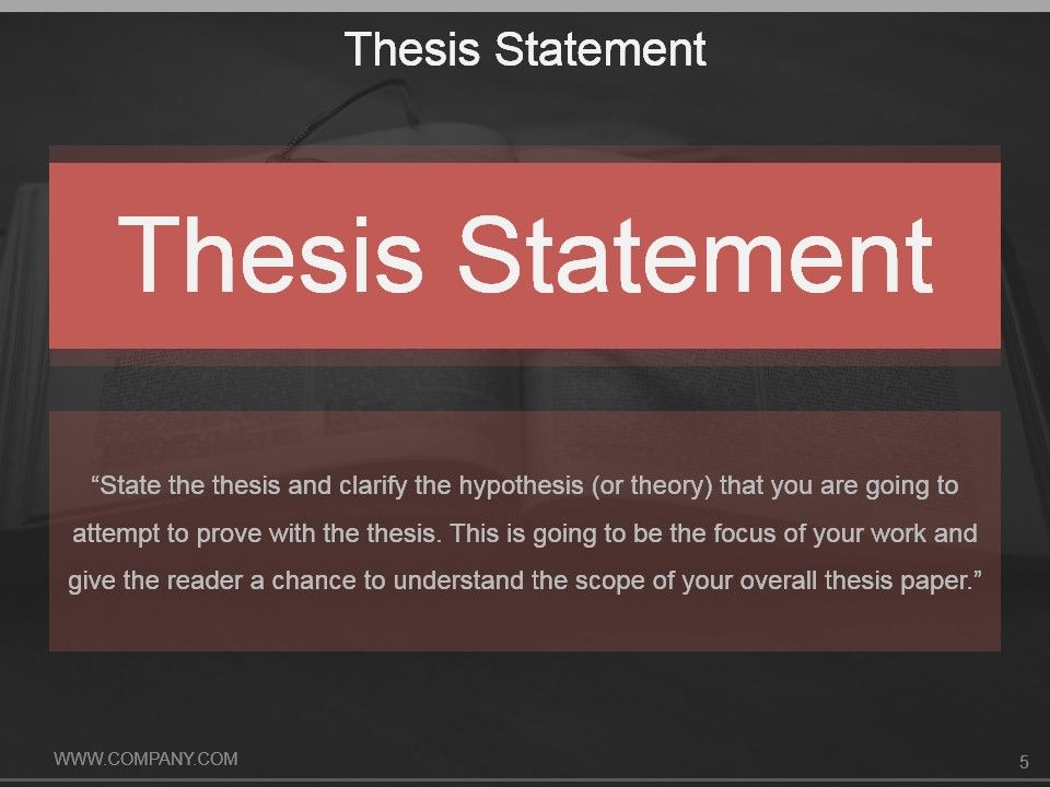 How to present a thesis proposal in a professional way