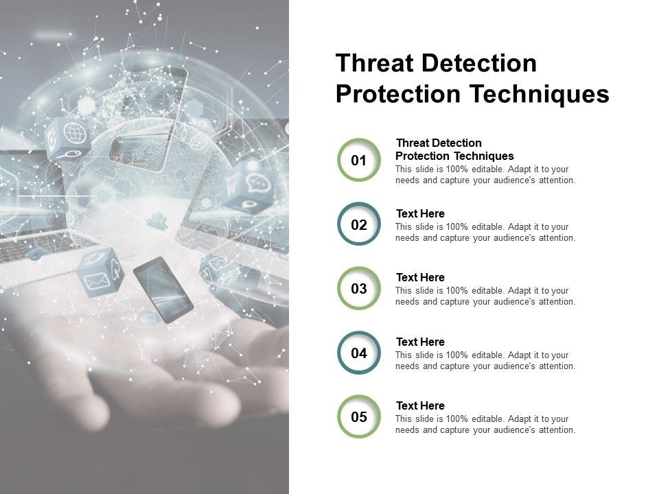 Threat Detection Protection Techniques Ppt Powerpoint Presentation Icon Cpb