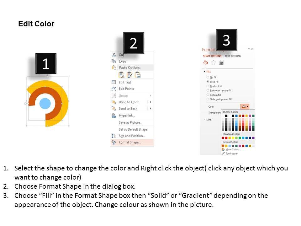 25900820 Style Circular Semi 3 Piece Powerpoint Presentation