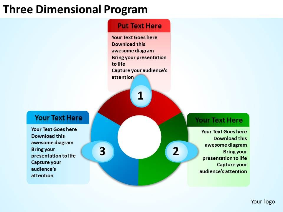 three dimensional program powerpoint templates graphics slides, Presentation templates