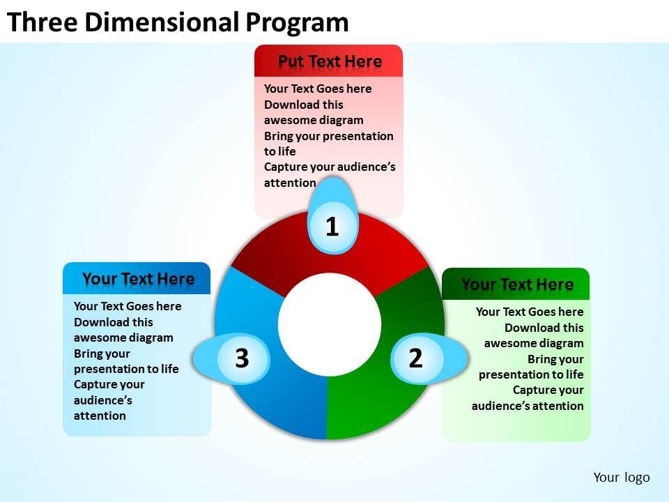 three dimensional program powerpoint templates graphics slides, Presentation templates