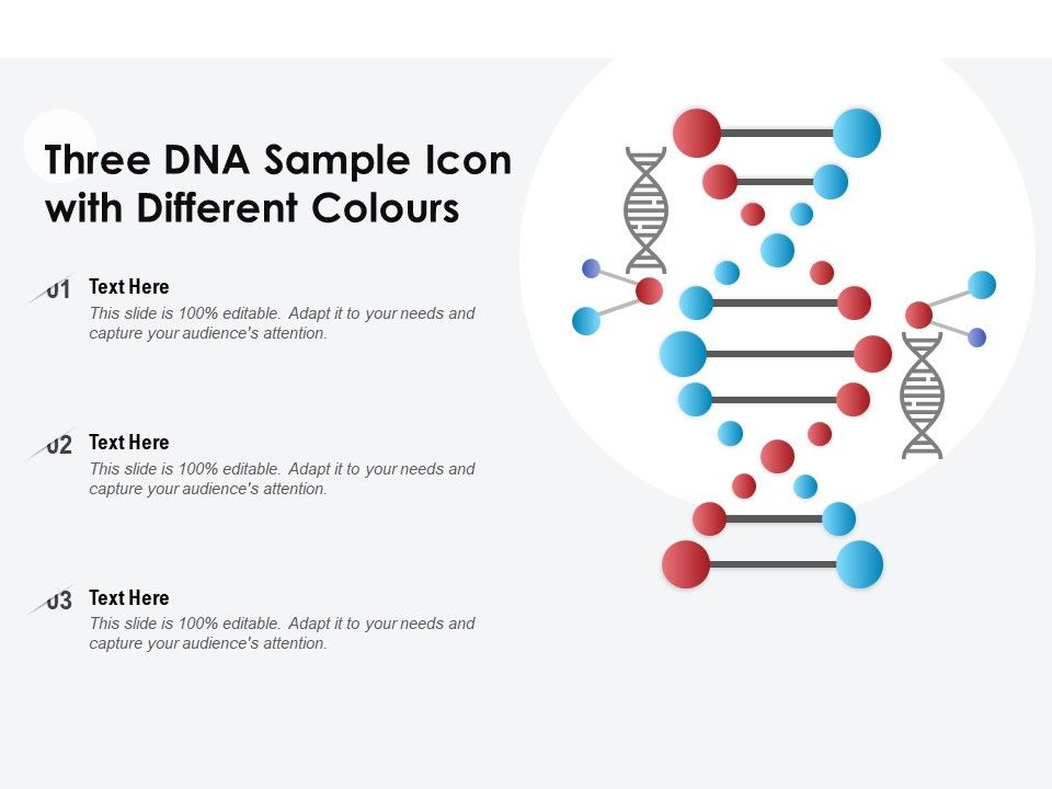 Three DNA Sample Icon With Different Colours