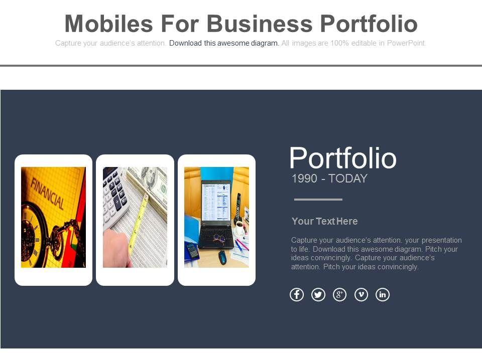 three_mobiles_for_business_portfolio_flat_powerpoint_design_Slide01