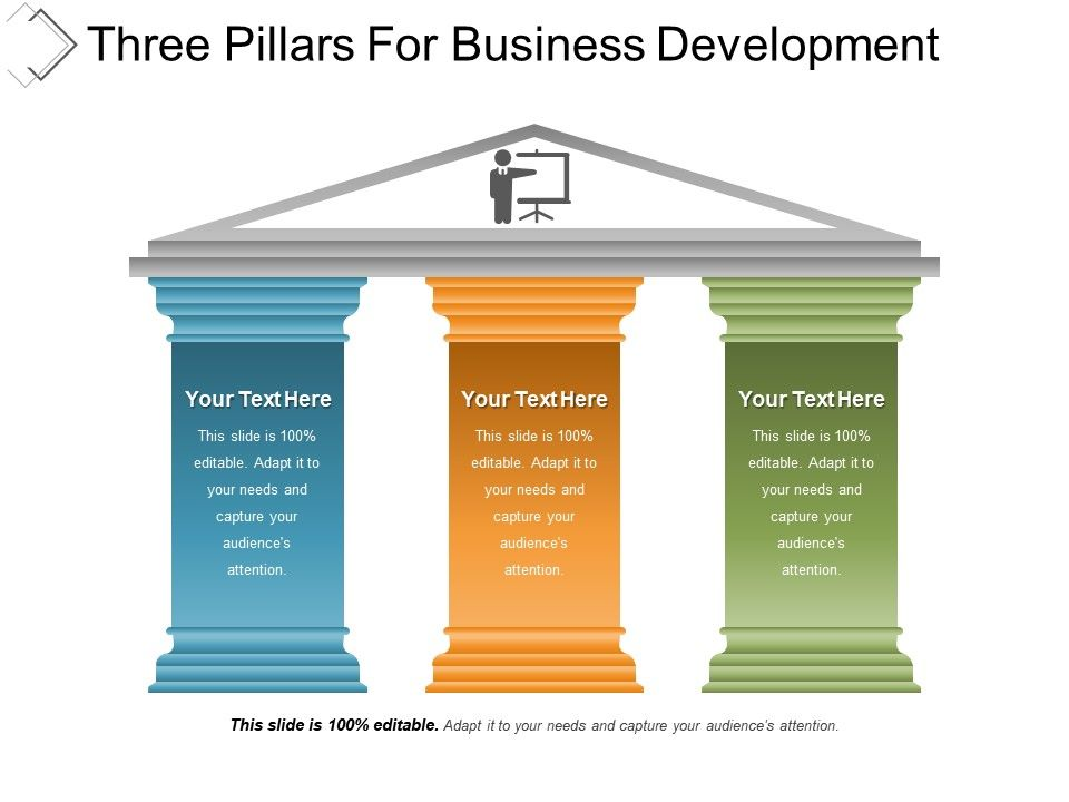 Three pillars for business development powerpoint templates threepillarsforbusinessdevelopmentpowerpointtemplatesslide01 threepillarsforbusinessdevelopmentpowerpointtemplatesslide02 flashek Choice Image